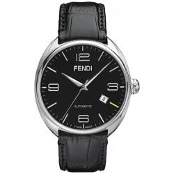 F200011011 Fendi Fendimatic Automatic Black Leather Mens Watch