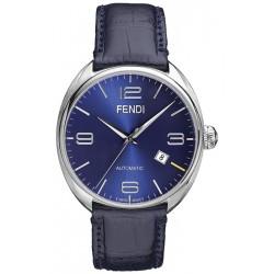 F200013031 Fendi Fendimatic Automatic Blue Leather Mens Watch