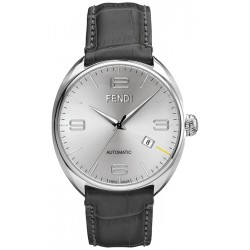 F200016061 Fendi Fendimatic Automatic Grey Leather Mens Watch