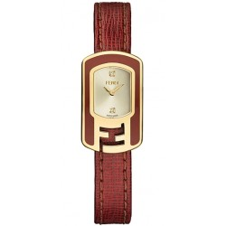F317425073D1 Fendi Chameleon Red Enamel Yellow Gold Womens Watch 18mm
