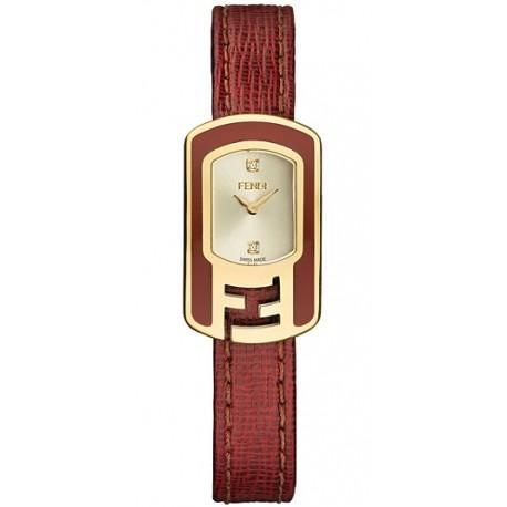 F317425073D1 Fendi Chameleon Red Enamel Yellow Gold Womens Watch 18mm