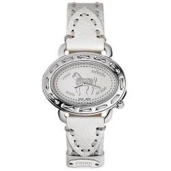 F83936H Fendi Selleria Oval Steel White Dial Watch Case 40mm