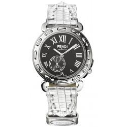 F81031H Fendi Selleria Round Steel Black Dial Watch Case 36mm