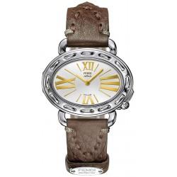 F83236H Fendi Selleria Oval Steel Silver Dial Womens Watch Case