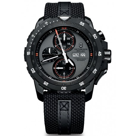 Swiss Army Alpnach Mechanical Black Fabric Mens Watch 241528