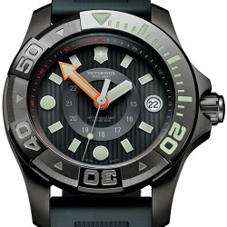 Swiss Army Dive Master 500 Black Rubber Watch 241555