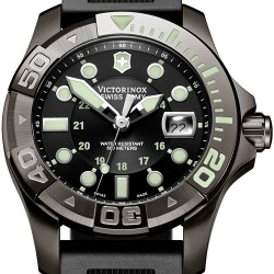 Swiss Army Dive Master 500 Black Rubber Mens Watch 241426