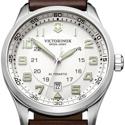 Swiss Army AirBoss Mechanical Leather Mens Watch 241505
