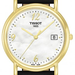 Tissot Carson 18K Yellow Gold Womens Watch T71.3.489.74