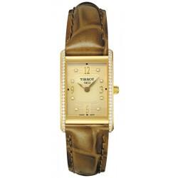 Tissot New Helvetia Diamond 18K Gold Womens Watch T72.3.105.94