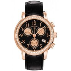 Tissot Chrono Diamond 18K Rose Gold Womens Watch T906.217.76.052.01