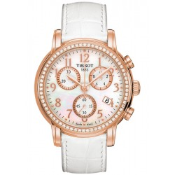 Tissot Chrono Diamond 18K Rose Gold Womens Watch T906.217.76.112.01