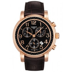 Tissot Chronograph 18K Rose Gold Mens Watch T906.417.76.057.00