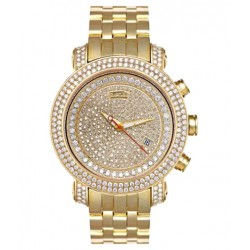 Joe Rodeo 14K Yellow Gold 12.50 ct Diamond Mens Watch GOLD1