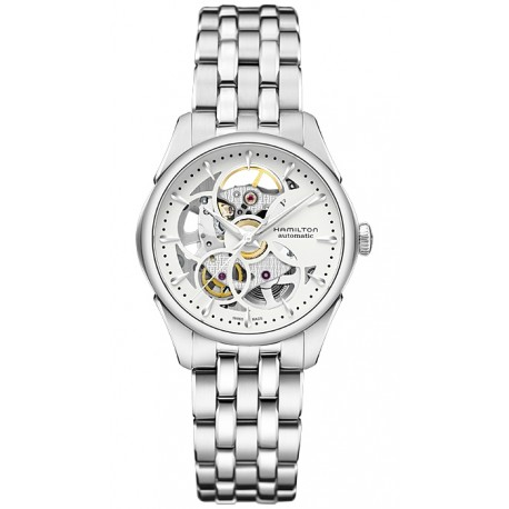Hamilton Jazzmaster Viewmatic Skeleton Auto Womens Watch H32405111