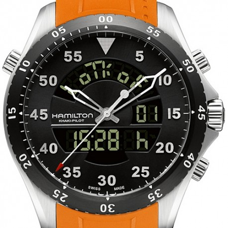 Hamilton Khaki Aviation Flight Timer Watch H64554431