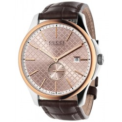 Gucci G-Timeless Automatic Pink Gold Steel Mens Watch YA126314