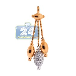 18K Yellow Gold 0.70 ct Diamond Womens Drop Pendant