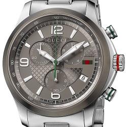 9f8768b97de Gucci G-Timeless Chrono Steel Bracelet Mens Watch YA126238