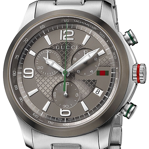 746d3b63c13 Gucci G-Timeless Chrono Steel Bracelet Mens Watch YA126238