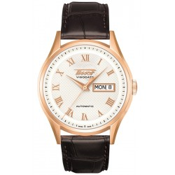 Tissot Visodate 18K Rose Gold Mens Watch T910.430.76.033.00