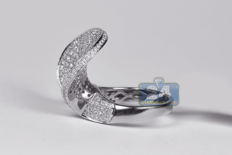 Womens Diamond Horseshoe Rings