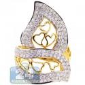 14K Yellow Gold 1.88 ct Diamond Womens Openwork Love Ring