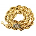 10K Yellow Gold Hollow Rope Chain 16 mm 30 Inches 100 Grams