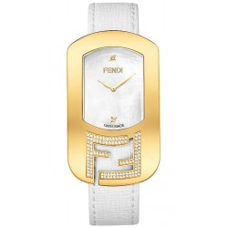 F300434541C1 Fendi Chameleon Diamond Yellow Gold Womens Watch 29mm