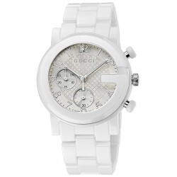 Gucci G-Chrono White Ceramic Mens Watch YA101353