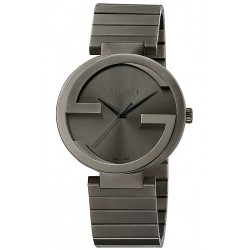 Gucci Interlocking Large Gray PVD Anthracite Watch YA133210