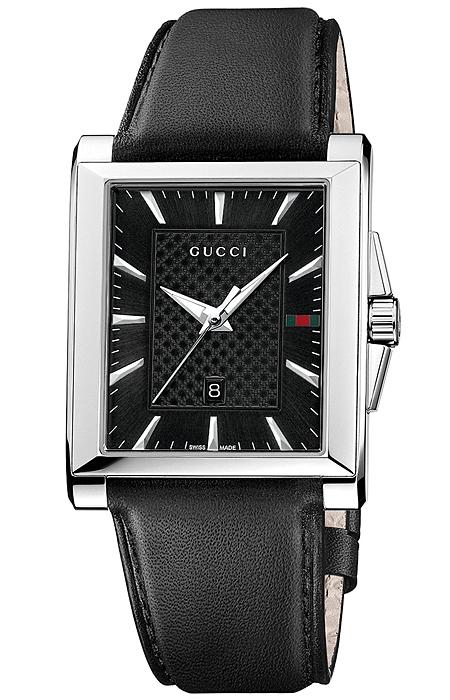 c58adeb4824 Gucci G-Timeless Rectangular Black Dial Mens Watch YA138404