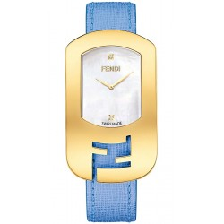 F300434532D1 Fendi Chameleon Blue Strap Womens Yellow Gold Watch 29mm