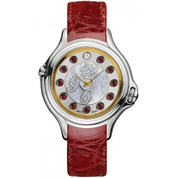Fendi Crazy Carats Red Leather 38 mm Watch F101034573D1