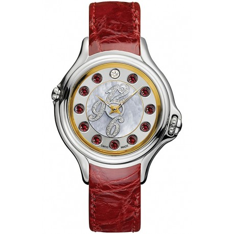 F101034573D1 Fendi Crazy Carats Red Leather Diamond Dial Watch 38mm