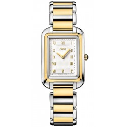 F701134000 Fendi Classico Medium Rectangular Two Tone Watch 25mm