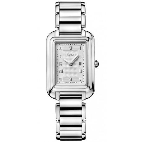F701036000 Fendi Classico Medium Rectangular Steel Watch 25mm