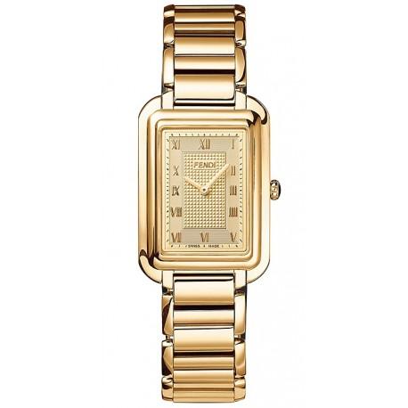 F701415000 Fendi Classico Large Rectangular Yellow Gold Watch 31mm