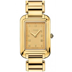 F701435000 Fendi Classico Medium Rectangular Yellow Gold Watch 25mm