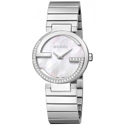 Gucci Interlocking Small Diamond Womens Watch YA133508
