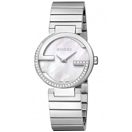 Gucci Interlocking Small Diamond Womens Steel Watch YA133508