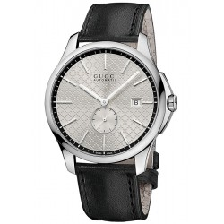 Gucci G-Timeless Automatic Slim Silver Dial Mens Watch YA126313
