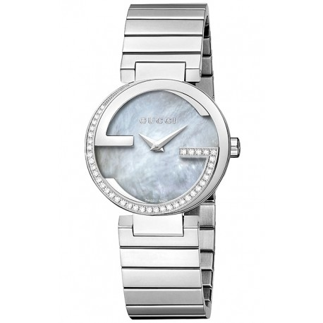 eaee30a70ce Gucci Interlocking Small Diamond Womens Steel Watch YA133509