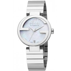 Gucci Interlocking Automatic Womens Steel Watch YA133401