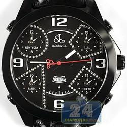 Jacob & Co Five Time Zone Diamond Accents 47 mm Watch JC-2BCDA