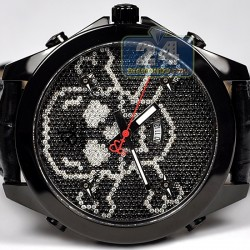 Jacob & Co Five Time Zone Diamond Skull 47 mm Watch JC-SKULL11BC