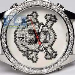 Jacob & Co Five Time Zone Diamond Skull 47 mm Watch JC-SKULL7