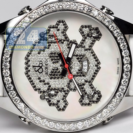 Jacob & Co Five Time Zone Diamond Skull 47 mm Watch JC-SKULL7