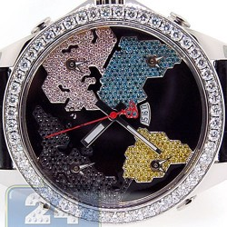 Jacob & Co Five Time Zone Diamond Bezel 47 mm Watch JC-47SC