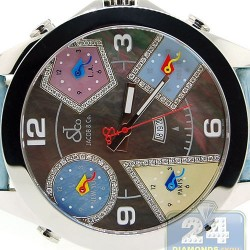 Jacob & Co Five Time Zone Diamond Accents 47 mm Watch JC-54PDA